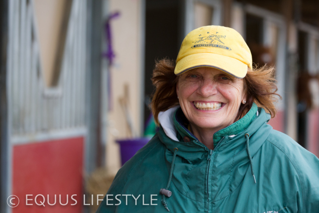 Owner and trainer, Virginia Peters.