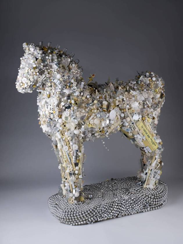 """the White Horse,"" by Jan Elftmann, based on Kysar's poem, ""Early Spring / Dark Lake."""