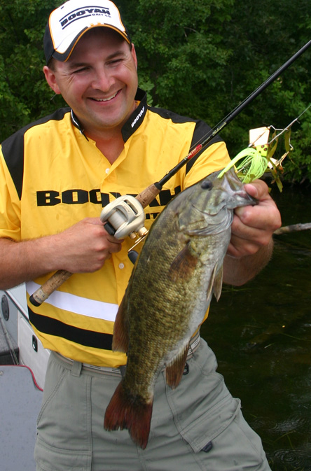 John House with a meaty Mississippi River smallmouth