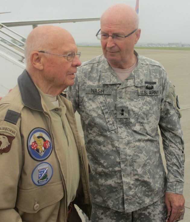 Herb Suerth with Adjutant General Richard Nash.