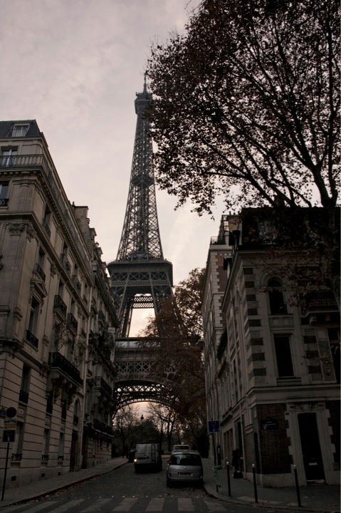 Our first view of the Eiffel Tower- how incredible? [photo credit: Bridget McQuillan]
