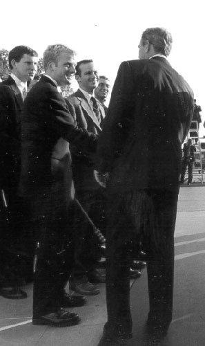 Brehm with President Bush