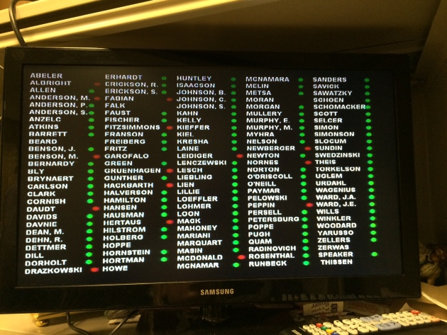 Final vote. Photo by Rachel E. Stassen-Berger