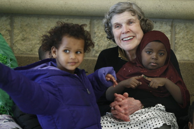 Sharing and Caring Hands founder Mary Jo Copeland will help tear down building.