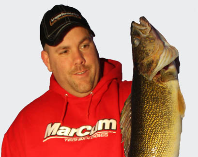 """Bryan """"Beef"""" Sathre with a beautiful golden walleye caught in the Bemidji area"""