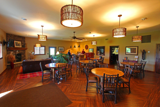 The clubhouse at Hunt's Point is as nice as any country club