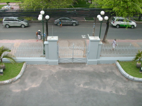 Reunification Palace - This is the gate that the tank crashed through at the end of the war
