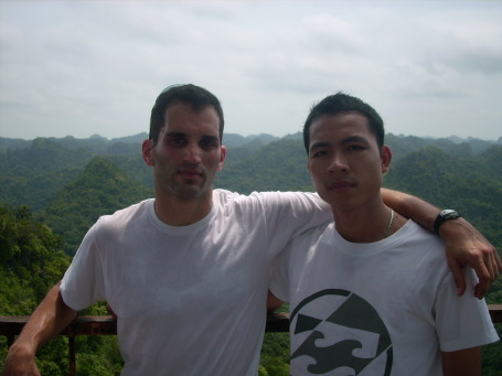Phu and I at the top of the mountain