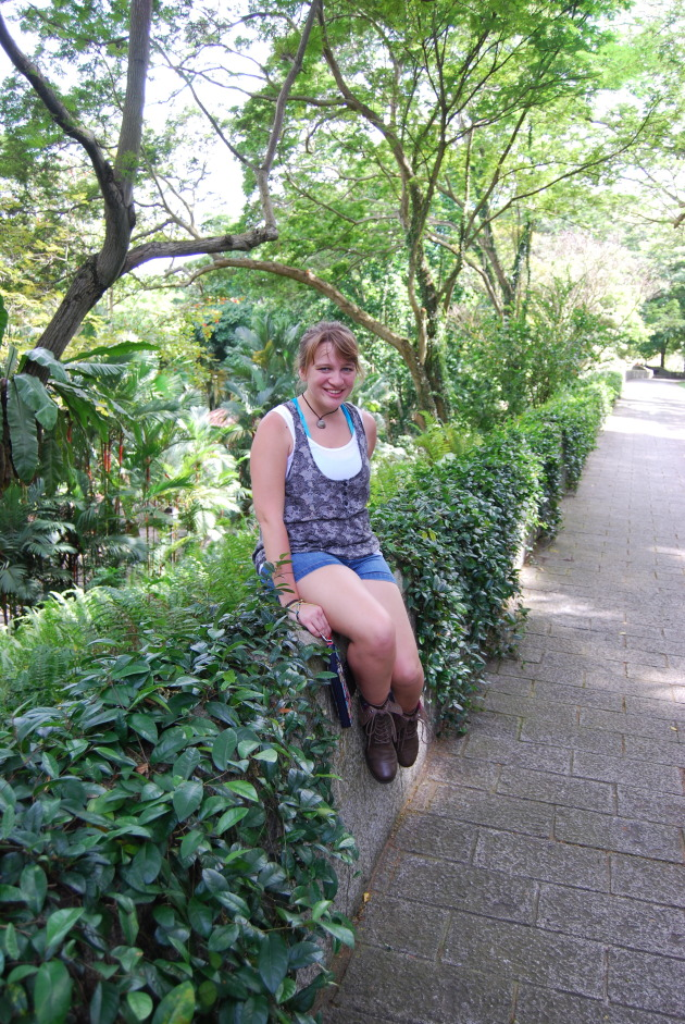 Me in a Singaporean Garden