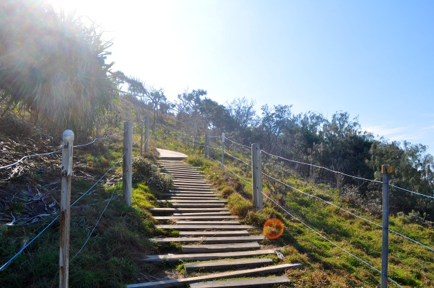 The beginning of the hike through Noosa National Park