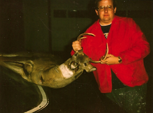 The author's father again, with his largest buck taken in 1982. That year hunters could submit a tooth from their kill for a DNR research survey. (The author's favorite hunting partner, by the way, is his father Ron Hustvedt, Sr.)
