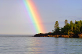 Rainbow over Artist's Point in Grand Marais