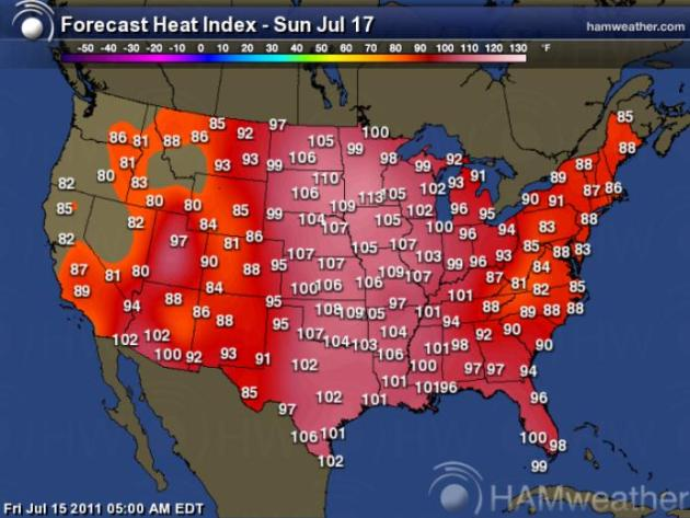 Excessive Heat Warning more humid than Dubai as dew point