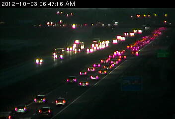 Congestion on Hwy. 10 at Hanson Blvd.
