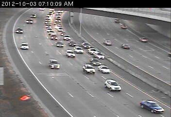 Crash on 94 east at 7th Street in Minneapolis