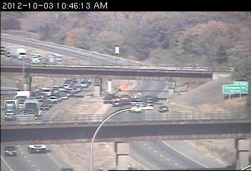 Crash on 694 west near Victoria St.
