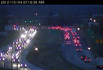 Traffic on northbound 169 approaching 93rd Av. N.