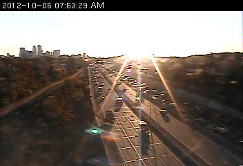The sun is bright at 394 at Wirth Pkwy.