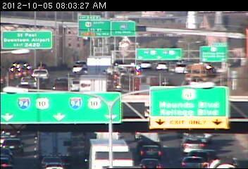 A traffic jam on 94 west at Johnson Pkwy.