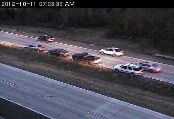 Crash involving three vehicles on 35E south at County H2