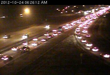 Traffic at 35W and Hwy. 10 in Mounds View
