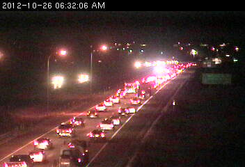 Traffic jam on southbound 494 at 67th Av. in Maple Grove