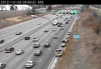Crash at 46th Street on 35W northbound in Minneapolis.