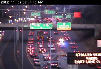 Traffic on 94 at Mounds Blvd. in St. Paul.