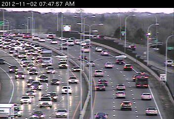 A traffic jam on Hwy. 100 at 23rd St.
