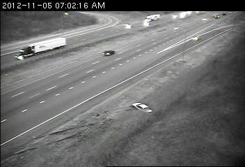 A vehicle landed in the ditch on eastbound 494 at Dodd Road in the southeast metro.