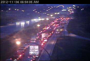 Congestion on northbound 169 at Old Shakopee Road.