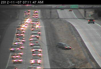 A spinout on 35E southbound near County 96