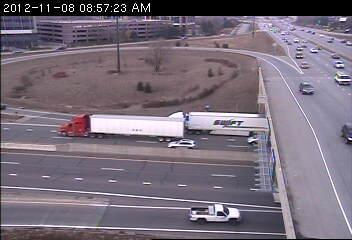The ramp from southbound Hwy. 100 to eastbound 494