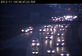 Traffic on west 94 at Hwy. 61 in St. Paul.