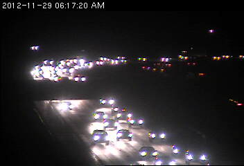 Traffic on eastbound 94 at Brockton Lane in Maple Grove