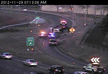 Rollover on Washington Avenue ramp.