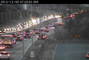 Traffic on southbound Hwy. 169 at 36th Avenue in New Hope.