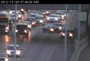 A wreck on westbound 94 at Western