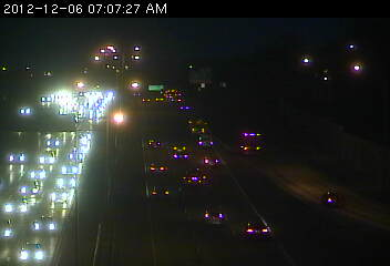 Traffic on westbound 94 heading into downtown St. Paul