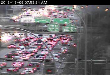 Traffic on 35W north at 42nd Street