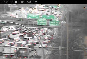 The scene on northbound 35W at 42nd Street.