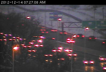 Traffic on 694 at Hwy. 169 in <a href=