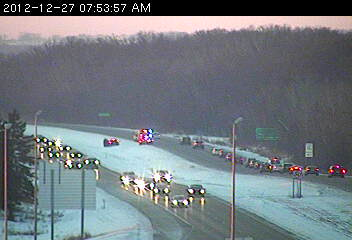 Emergency situation on southbound 35 at 210th St. in Lakeville.