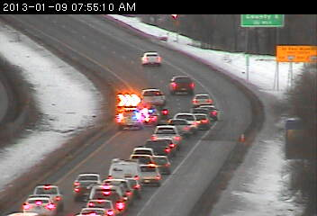 The scene at southbound 35E at County 96