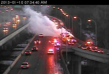 Car fire on Hwy. 169 in Shakopee