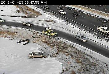 This driver slipped off the ramp from 494 to 169