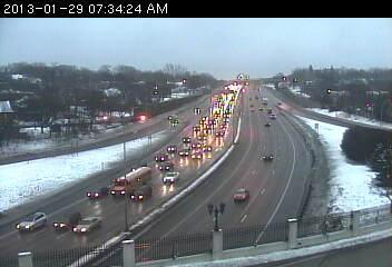 Westbound 94 at Mounds Blvd. in St. Paul. 