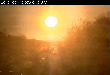 Sunrise over 694 in Fridley