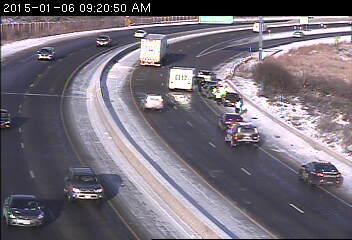 Coon Rapids squad car involved in 4-car crash on Hwy  10