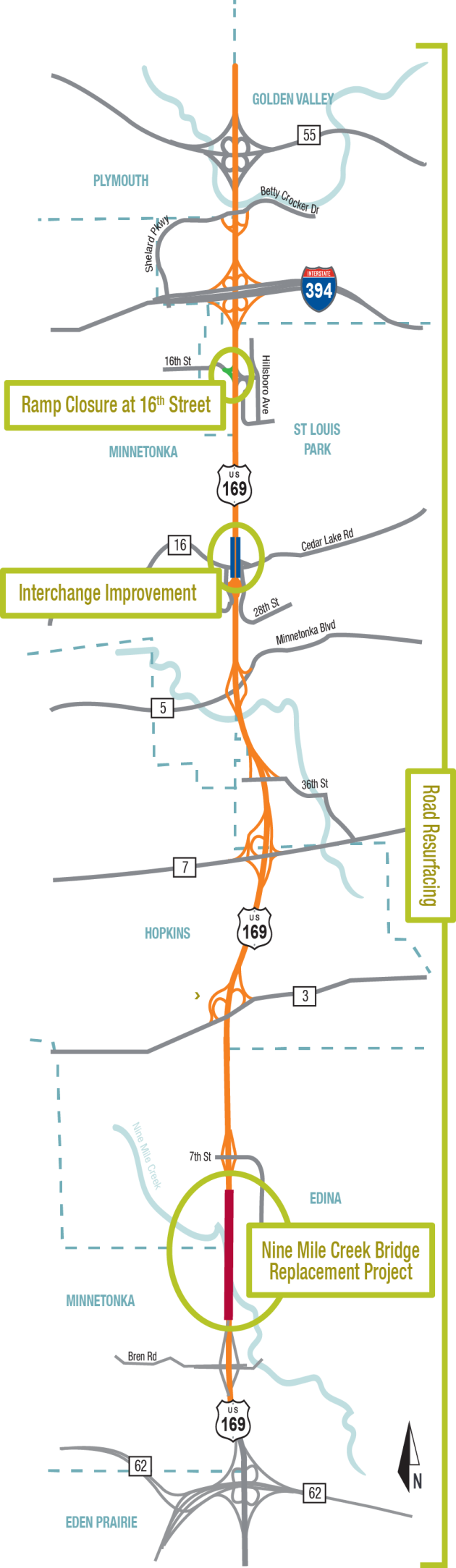 Part of Hwy 169 to be shut for up to a year MnDOT to brief – Mn Dot Travel Map